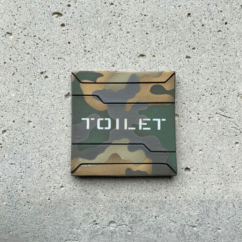 画像1: 迷彩柄【TOILET】 (1)