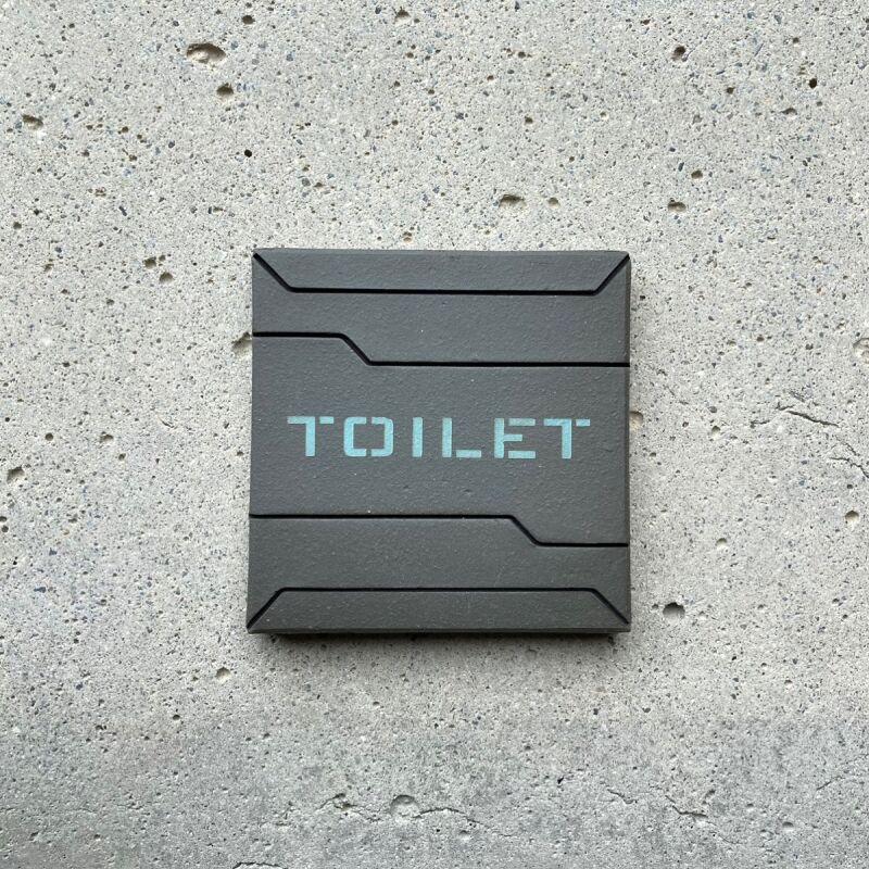 画像1: ロービジ迷彩・ブルー【TOILET】 (1)